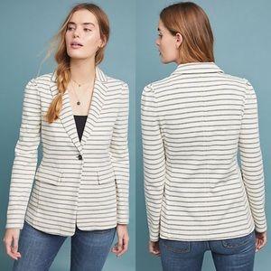 Anthropologie Francoise Striped Knit Blazer